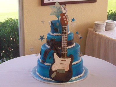 Rock 'n Roll Bar Mitzvah Cake by Johnson's Custom Cakes & More
