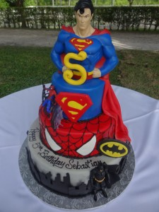 5 Year Old Superman Birthday Cake