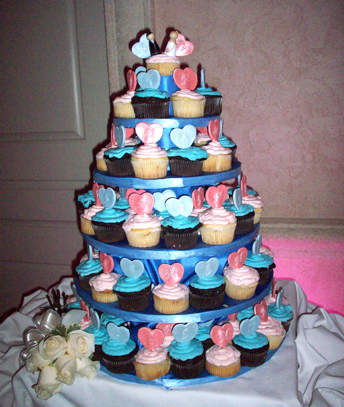 Wedding Cupcakes with Hearts