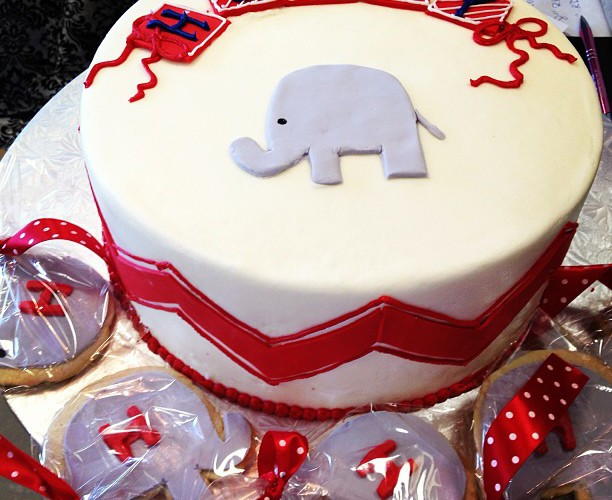 Elephant Cake and Cookies