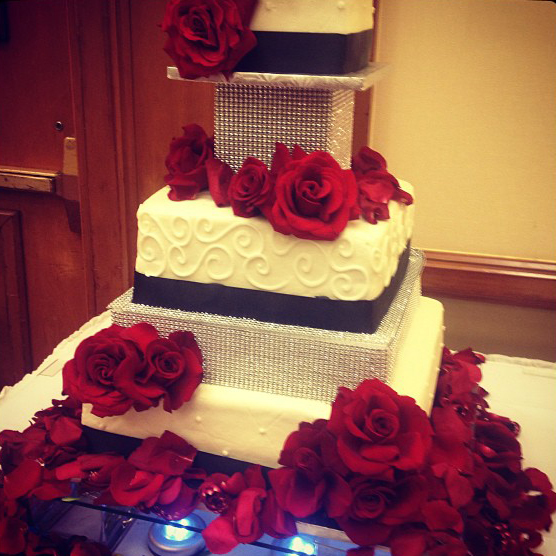 Rose and Bling Cake