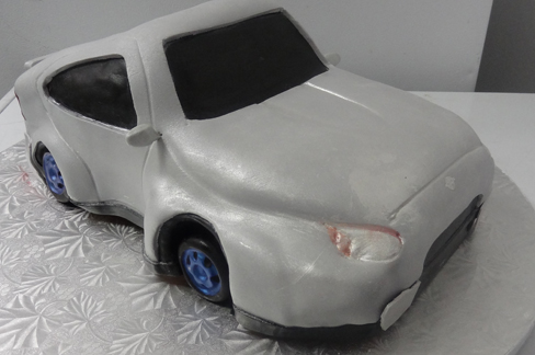 Car Shaped Grooms Cake