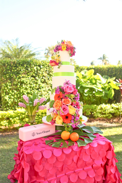 Lily Pulitzer Inspired Wedding Cak