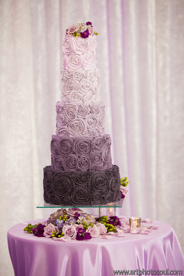 purple wedding cake images purple ombre buttercream wedding cake johnson s custom cakes 18918