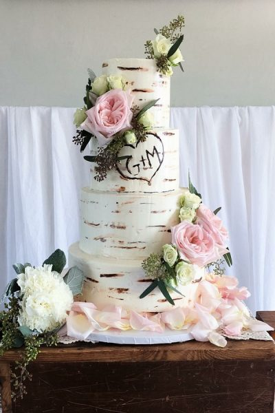 buttercream bark wedding cake