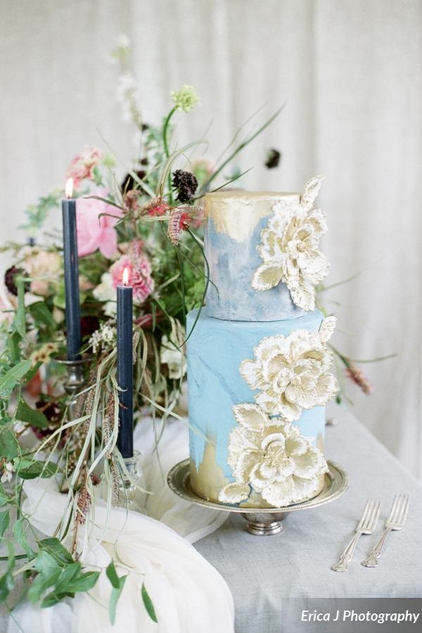 light blue and gold wedding cakes light blue and gold wedding cake johnson s custom cakes 16847