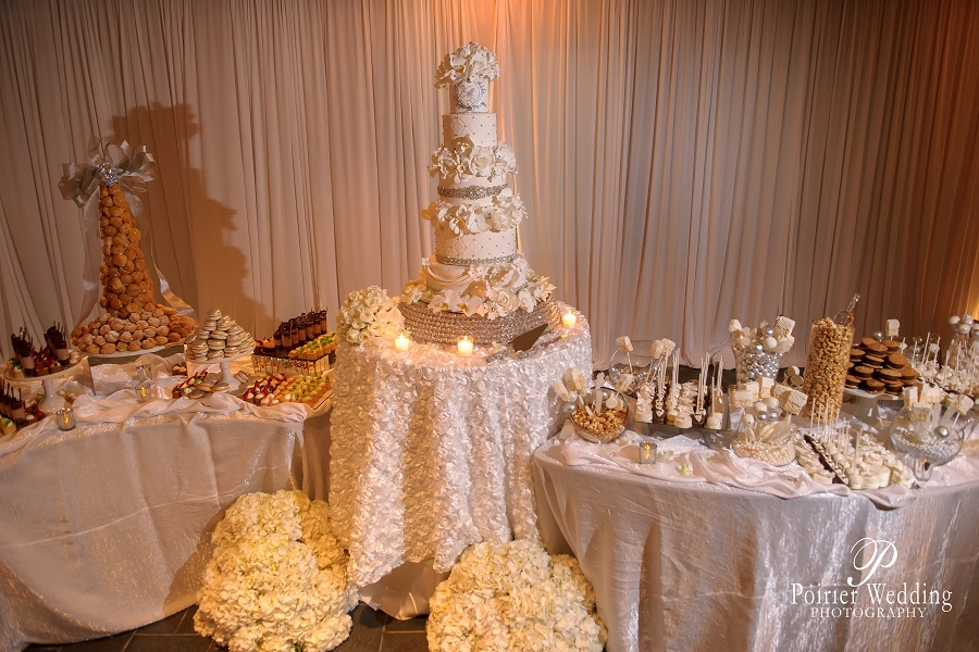 Wedding Cake and Dessert Buffet