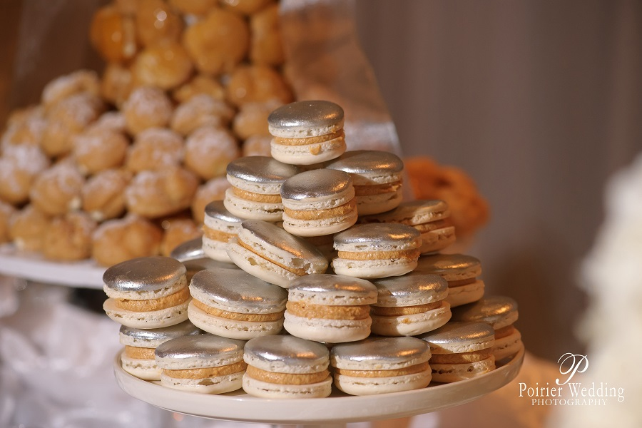 Silver Dusted Macarons
