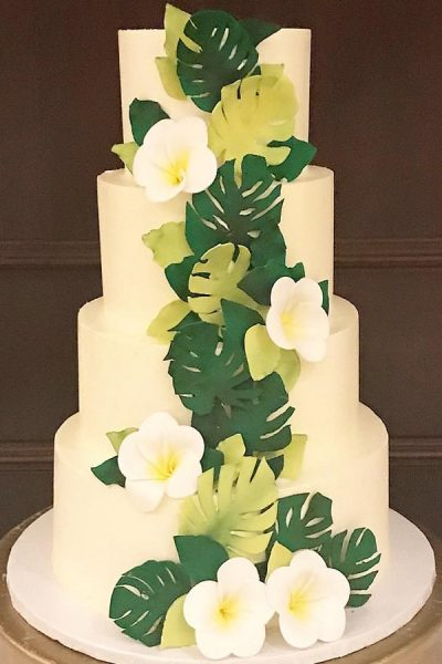 green tropical cake