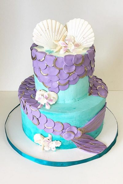 Mermaid themed Cake